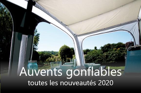 Auvents pour caravanes et camping-cars avec technique d'attelage à air comprimé